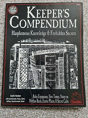Call Of Cthulhu Keepers Compendium 2344 • 20£