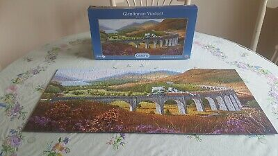 Gibson 636 Piece Puzzle  Glenfinnan Viaduct  Complete Harry Potter Train • 4£