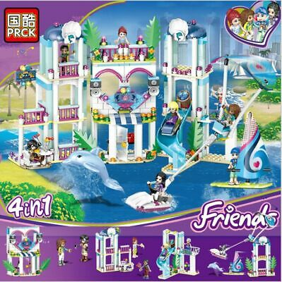 New 4 In 1 The Heartlake City Resort Compatible Christmas Girl Friends Building  • 29.90£