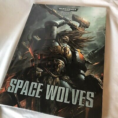 Warhammer 40k 40,000 Codex Space Wolves Hardback Book • 24£