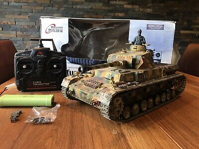 Must See One Off Custom Henglong Panzer Iv Rc Tank Rtr Battery Bb Smoke Sounds  • 130£