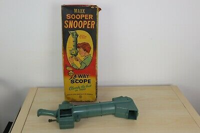 Vintage 1960's Marx Toys Sooper Snooper 4 Way Scope BOXED • 25£