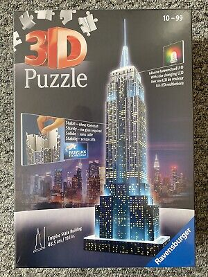 3D Puzzle Ravensburger Empire State Building 228 Pcs- New, Sealed • 22£