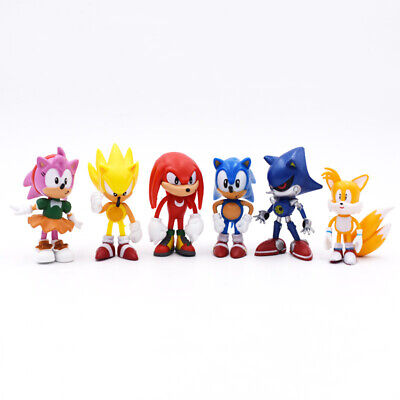6 Pcs Sonic Classic The Hedgehog PVC Action Figure Model Kids Toy Cake Topper • 8.99£