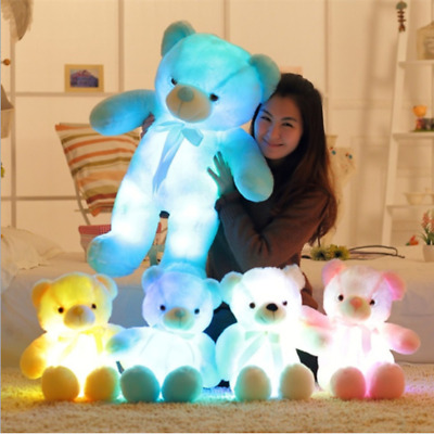 Stuffed Soft Kids Teddy Bear Light Up Glowing Gifts Led Plush Toy Colorful • 26.02£