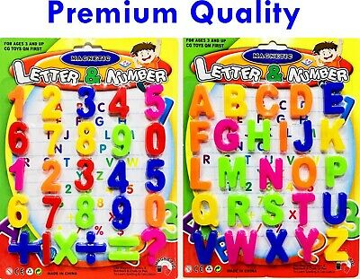 Large Magnetic Letters Alphabet & Numbers Fridge Magnets Toys Kids Learning • 4.99£
