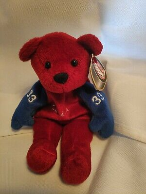 Patrick Roy Colorado Avalanche 33 Beanie Bear Tags Salvinos Banners  Red Blue • 10£