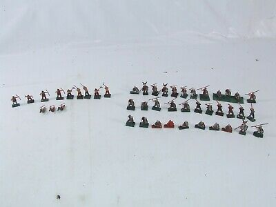 Collection Of 25mm Approx Toy Soldiers Painted Plastic Qty 45 In Total Military • 14.99£