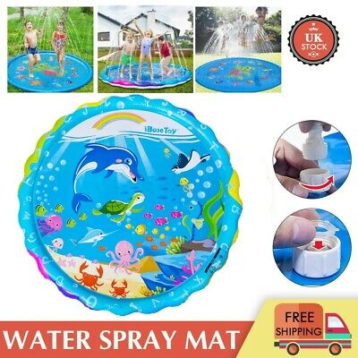 170CM Garden Water Spray Pad Kids Outdoor Sprinkler Splash Play Mat Summer Toys • 7.49£