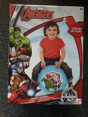 Avengers Space Hopper Hop Bounce Jump Ball Childrens Fun Active Toy Kids Gift • 10£