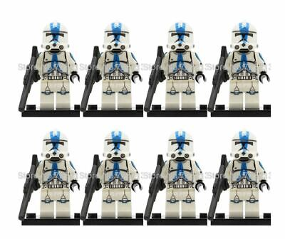 CLONE TROOPER ARMY STAR WARS CUSTOM Lego MINI FIGURE 501ST ARMY 8 MINIFIGURES  • 14.95£