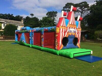 COMMERCIAL 2 PART ASSAULT COURSE Inflatable Bouncy Castle 45ft - PIPA MAY 2021 • 1,595£