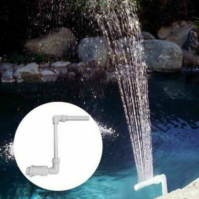 Waterfall Fountain Head Nozzle Tube Swimming Fish Water Pool Joints Connector • 15.59£
