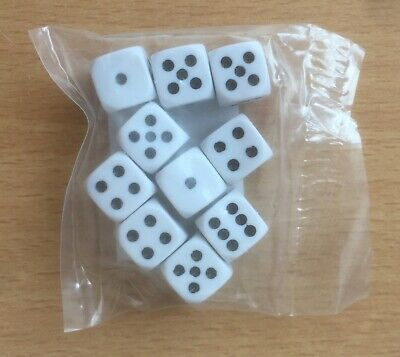 Pack Of 10 Dice (12mm) • 0.99£