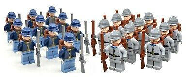 American Civil War Confederate & Northern Custom Lego Minifugure Army  • 14.95£