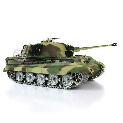 UK Stock 6.0 Customized King Tiger RTR RC Tank 3888A HL 1/16 Metal Tracks Wheels • 283.99£