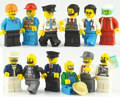 12 Pcs People Characters Serie Mini Figures Fit Big Block Brand Toys UK Seller • 9.99£