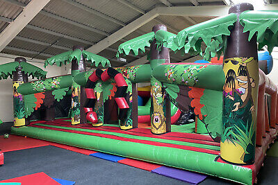 Airquee Giant Bouncy Castle REDUCED TO £2500 ! 10m X 12m Jungle Play Area Centre • 2,500£