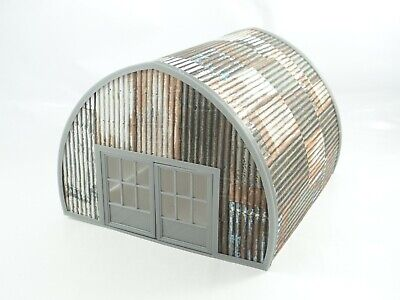 Diorama Model Scale 1:43 Old Garage With Sheet 'Metal' Roof Model Car Garage  • 14.99£