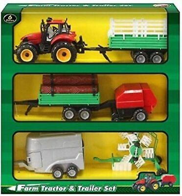 Farm Tractor & Trailer Set  • 9.99£