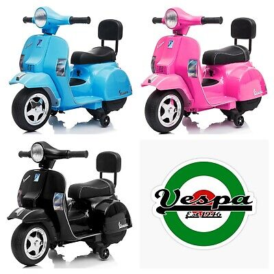 Licensed Vespa Mini PX150 6V Ride On Scooter With Stabilisers - 4 Colours • 69.95£