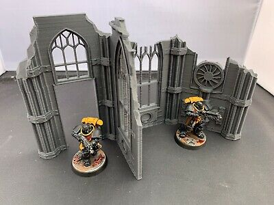 3D Printed Large Gothic Ruin Scatter Terrain For 28mm Warhammer 40k & Kill Team  • 8.99£