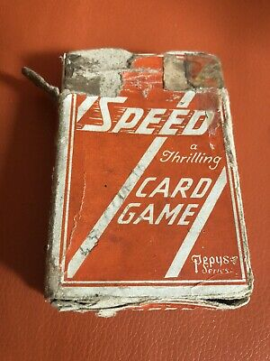 Lovely Vintage Pepys Speed A Thrilling Card Game 2nd Edition 1945 Complete • 26.95£