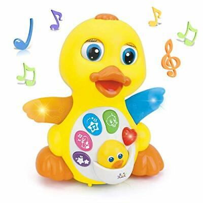 EARSOON Dancing Walking Electric Duck Smart Toys With Music And LED Light Cute • 27.99£