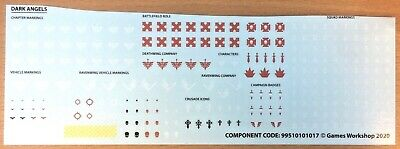 Dark Angels Transfers From New Space Marine Transfer Sheet • 3.99£