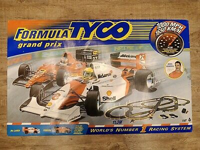 FORMULA TYCO NIGEL MANSELL Grand Prix Vintage Car Racing Set - Like Scalextric • 29.99£