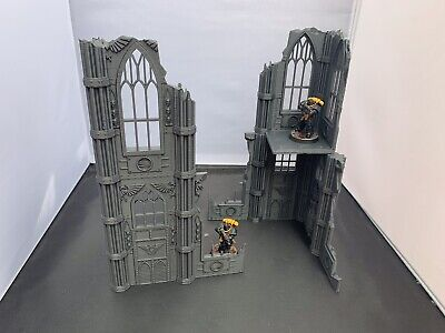 3D Printed Large Two Level Kill Team Gothic Ruins Terrain For 28mm Warhammer 40k • 17.99£