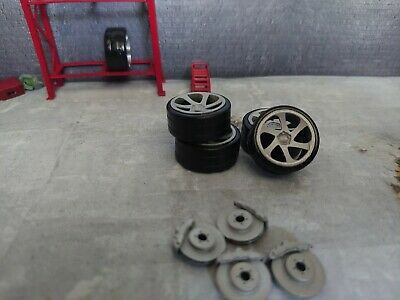 1/24 Scale 3sdm Wheels Good For Diorama Or Model Kits Rims NOT PAINTED! • 8£