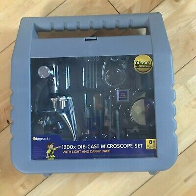 Benjamin 1200x Die Cast Microscope Set With Light, Carry Case & Accessories • 4.50£