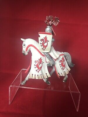 Schleich Mounted White And Red Jousting Knight On Horse Model Toy Figure • 9.99£