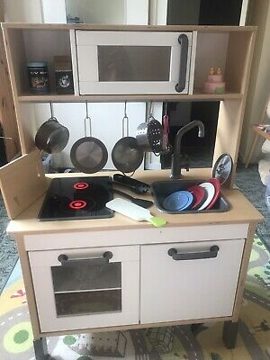 Large Freestanding Ikea Duktig Wooden Kitchen, Hob & Accessories. • 30£