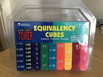Fraction Tower Equivalency Cubes From Learning Resources • 4.20£