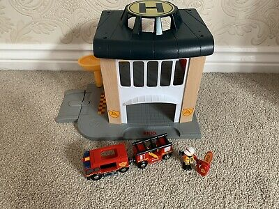 BRIO Trains World Fire And Rescue 33833 - Station, Engine, Figures  • 15£