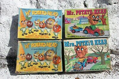 Vintage Mr And Mrs Potato Head Sets X 4 Boxed With Accessories • 40£