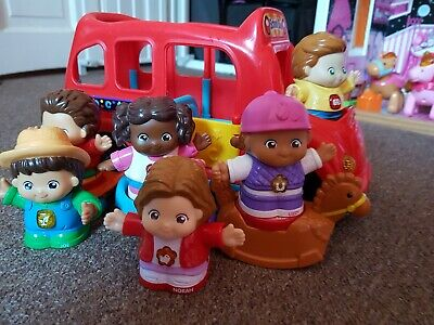Vtech Toot Toot Friends School Bus With Mr Gavin And Other Figures  • 10£