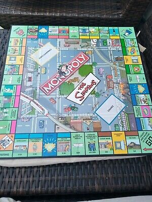 The Simpsons Monopoly Game Board Replacement Original • 2.49£