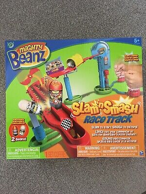 New Sealed Slam 'n' Smash Mighty Beanz Race Track Game Inc 2 Exclusive Beans • 16.99£
