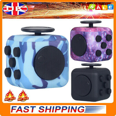 Fidget Cube Spinner Toy Children Desk Adult Stress Relief Cubes ADHD UK Camo New • 4.89£