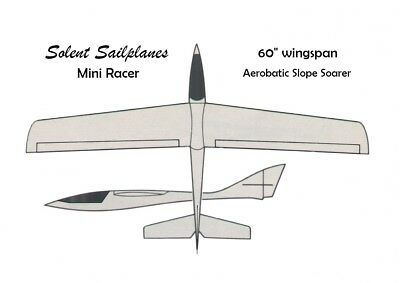 Sailplanes International Mini Racer GRP Fuselage, Canopy And Wing Fairing. • 44£