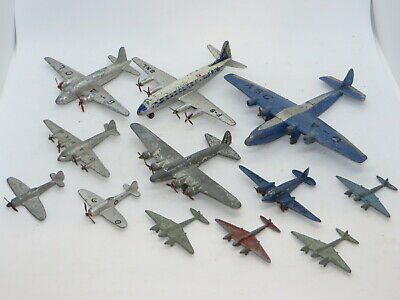 Vintage Dinky Toy Airplane Aircraft Lot Armstrong Whitworth Viking Viscount Etc • 25.88£