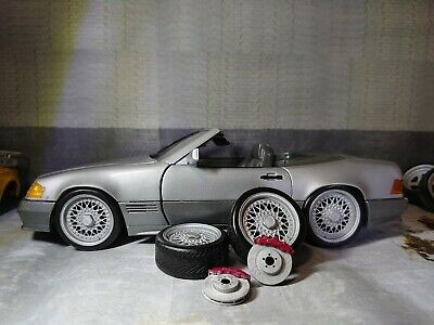1/18  Set Of BBS Wheels Tyres And Brake Disks For Diorama Or Diecast UNPAINTED • 10£
