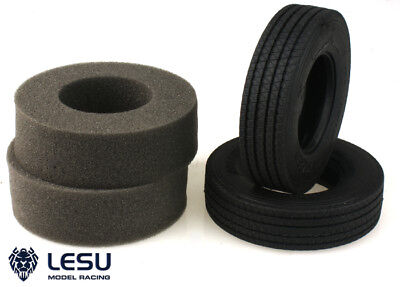 UK Stock LESU 1Pair Upgraded Rubber C Tires A For 1/14 TAMIYA RC Tractor Truck • 21.99£