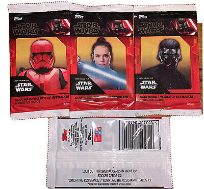 Topps Star Wars The Rise Of Skywalker Trading Cards 50 SEALED PACKETS • 19.99£