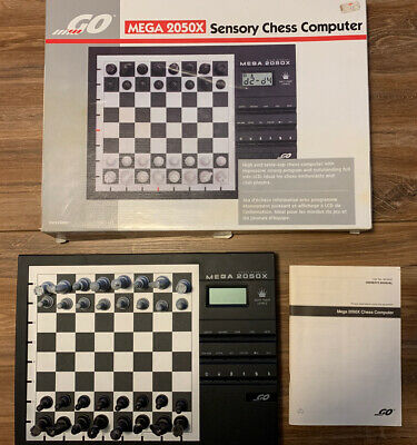 GO MEGA 2050X Sensory Chess Computer Sixty Four Levels LCD  • 49.99£