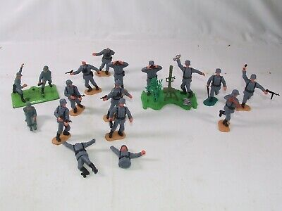 Timpo Swoppets & Britains Deetail German WWII Toy Soldiers Bundle With Mortars • 14.99£