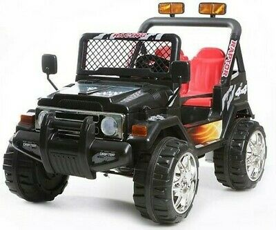 NEW Kids 2 Seater Ride On 12v Electric Battery 4x4 Car Truck Jeep In Black • 169.95£